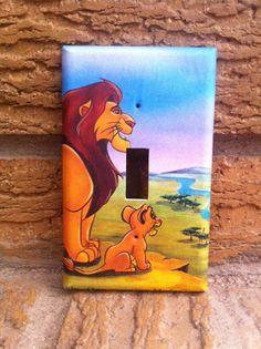 Simba and Mufasa Lion King Light Switch by Hippiemysticstudio