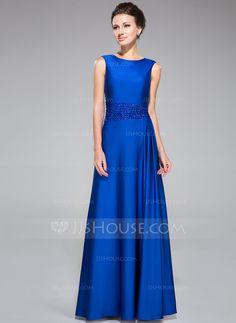... Scoop Neck Floor-Length Beading Zipper Up Regular Straps Sleeveless No  2014 Royal Blue Summer Fall General Plus Jersey Mother of the Bride Dress 9eeb4f3ad110