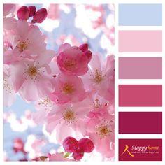 Voorjaar inspiratie zachte tinten roze met blauwe accenten