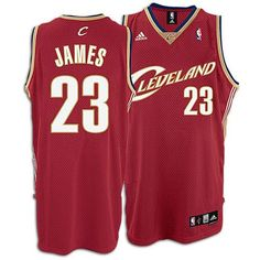 0ff450530 Adidas Cleveland Cavaliers Lebron James Swingman Road Jersey Red   Sports  Fan Basketball Jerseys   Clothing