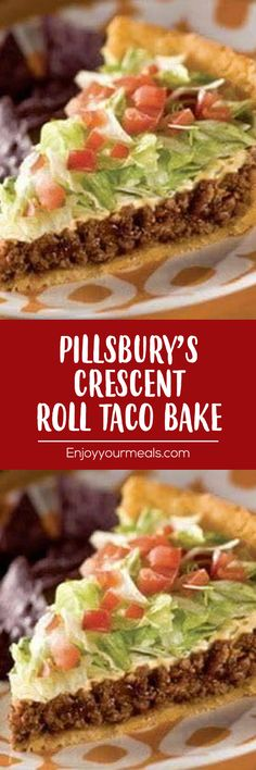 The Best Pillsbury's Crescent Roll Taco Bake - Amanda Kitchen Yummy Recipes, Mexican Food Recipes, New Recipes, Cooking Recipes, Yummy Food, Favorite Recipes, Recipies, Dinner Recipes, Mexican Dishes