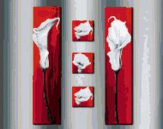 Предпросмотр схемы вышивки «Каллы-триптих»