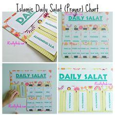 Islamic Daily Prayer Chart {Tutorial} by A Crafty Arab Ramadan Activities, Ramadan Crafts, Class Activities, Prayer Crafts, Kids Routine Chart, Salat Prayer, Islamic Prayer, Islamic Art, Kids Planner