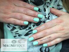 Blue nails mint niebieskie paznokcie miętowe