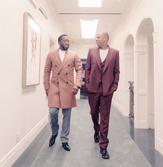 Sean Combs and Shawn Carter #timeless #elegance  ...Palette fit for emperors.... ~ June Ambrose February 2017