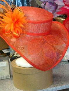 OrangeFlavorSideView  by Sheila L. Dozier #milllinery #HatAcademy