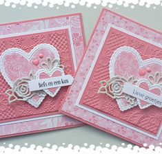 Bemmel goes Stampin & # - fabric crafts Valentines Day Cards Handmade, Handmade Birthday Cards, Valentine Crafts, Fabric Cards, Paper Cards, Card Making Inspiration, Making Ideas, Hand Stamped Cards, Square Card