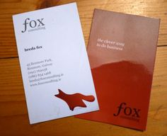 Fox Consultancy Business Card  Nice little design