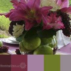 Grapes and apples palette