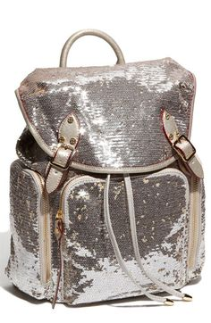 MZ Wallace Marlena Gold Sequins Backpacks For Girls Handbags Online, Online Bags, Purses Online, Big Handbags, Cheap Handbags, Coach Handbags, My Bags, Purses And Bags, Silver Backpacks