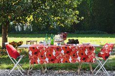 Tischdecke, roter Mohn von Apelt, Artikel 5903