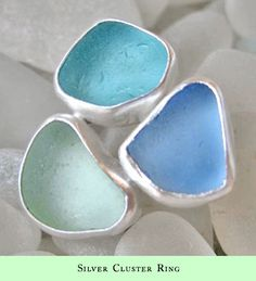 Seaglass Collection, Silver Ring.