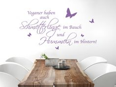 Wall tattoo lettering vegan ' ' butterflies and bumblebees ' ' wall sticker deco saying humorous kitchen wall wall wall sticker Wall Stickers Animals, Normal Wallpaper, Kitchen Quotes, Wall Tattoo, Blink Of An Eye, Nursery Wall Decals, Room Wall Decor, Free Food, Butterfly