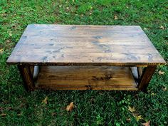 Rustic Coffee Table by LillardwithLove on Etsy