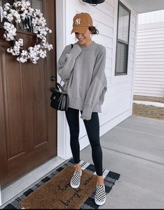 Outfits With Hats, Mom Outfits, Cute Casual Outfits, Everyday Outfits, Everyday Fashion, Fall Winter Outfits, Autumn Winter Fashion, Look Fashion, Fashion Outfits