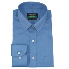 James Bond collar Mens Banker Cotton shirt Navy Blue stripes Loop Tab for Gents
