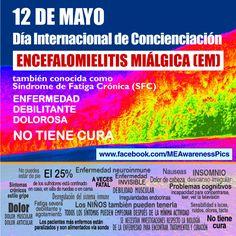 Español: 12 May - International ME Awareness Day in Spanish!  More images at www.facebook.com/MEAwarenesPics or MEAwarenessPics.blogpost.com