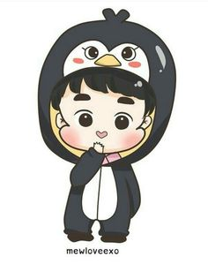Pengüin Do D O Exo, Exo Do, Exo Xiumin, Exo Cartoon, Cartoon Fan, Exo Stickers, Exo Anime, Chibi Wallpaper, Exo Fan Art
