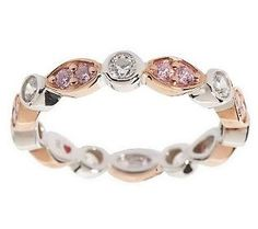 Hidalgo Diamonique Marquise & Round Stack Ring,Sterling & Clad