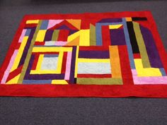 This is the Medallion Quilt from the Quilts of Gees Bend.  I made this for my sister for her Birthday.