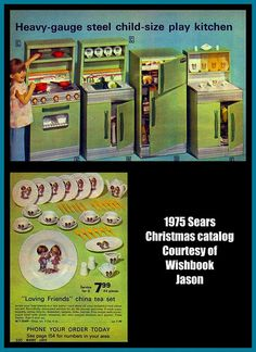 1975 Toy Kitchen, Sears Christmas Catalog by mcudeque, via Flickr