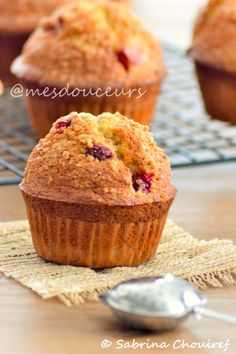 muffins crumble fraise