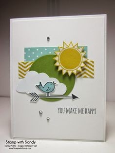 Stamp With Sandy: You Make Me Happy, Hello Love Stamp Set, Stampin' Up