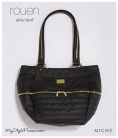 Miche Rouen Luxe Shell for Demi Bags from MyStylePurses.com - Black Quilted Purse