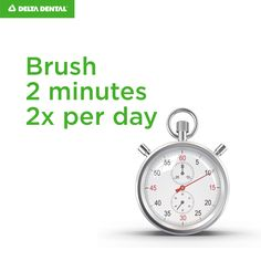 The average person only brushes 45 to 70 seconds a day, while it's recommended that you brush for 2 minutes twice a day.