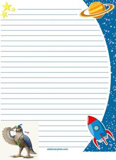 Space Stationery and Writing Paper Free Printable Stationery, Printable Paper, Free Printables, Space Printables, Writing Paper, Letter Writing, Memo Notepad, Space Theme, Paper Frames