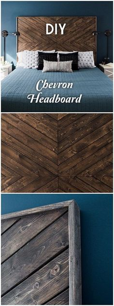 40 Easy DIY Headboard Ideas You Should Try at Home - how to make a chevron wooden headboard. Looks easy enough! 40 Easy DIY Headboard Ideas You Should Try at Home - how to make a chevron wooden headboard. Looks easy enough! Diy Home Decor Rustic, Easy Home Decor, Home Decor Bedroom, Cheap Home Decor, Farmhouse Decor, Bedroom Ideas, Room Decor, Modern Decor, Bedroom Bed