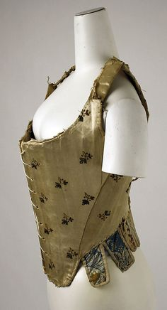 Side view   Stays  Date: ca. 1780 Culture: Italian Medium: silk Dimensions: Length: 16 in. (40.6 cm) Credit Line: Rogers Fund, 1926 Accession Number: 26.56.58a, b