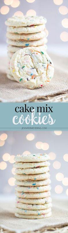Cake Mix Cookies - JenniferMeyering.com