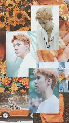 Exo Lockscreen, Exo Members, Exo Chanyeol, Aesthetic Iphone Wallpaper, Kpop Aesthetic, 1, My Sunshine, Homescreen, Baekhyun Wallpaper