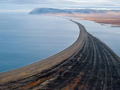 Picture of the beach at Cape Blossom on Wrangel Island