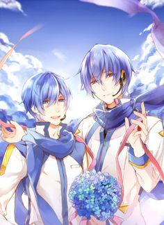 source: pixiv id 3682478 Vocaloid Kaito, Kaito Shion, Anime Manga, Anime Guys, Anime Art, Blue Hair Anime Boy, Miku Chan, Mikuo, Kawaii