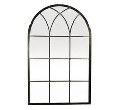 Metal Framed Mirrors: Medium Arch Top Metal Mirror