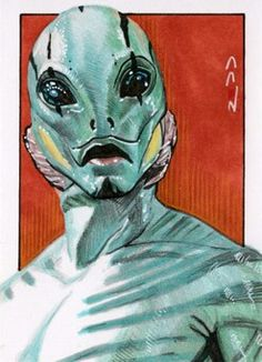 Abe Sapien - Sketch Card by J-Redd on DeviantArt Abe Sapien, Mike Mignola Art, Comic Art, Comic Books, Movies For Boys, Bristol Board, Merfolk, Art Base, Watercolor Pencils