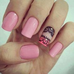 Nail Inks will provide you the most eyecatching nails that suits on your taste for your nails. Love Nails, Pink Nails, Pretty Nails, Acrylic Nails, Gel Nails, Modern Nails, Short Nails Art, Nail Decorations, Easy Nail Art