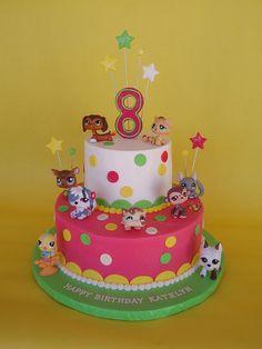 Littlest Pet Shop Birthday Cake by CakesUniqueByAmy.com, via Flickr