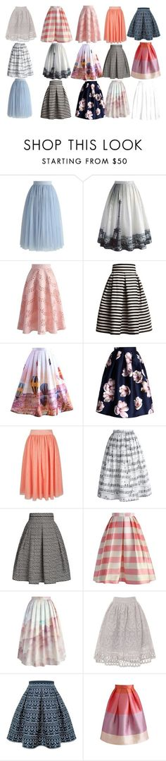 """""""MIDI SKIRTS"""" by jesika-taylor on Polyvore featuring Chicwish, Rumour London, Yumi, Chi Chi and Superdry"""