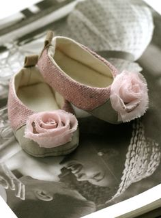 Baby Shoes Couture Baby Ballet Slipper Baby by revolutionarysoul, $30.00