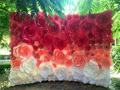 Ombre Papier Blume Hochzeit Kulisse Hintergrund von MioGallery