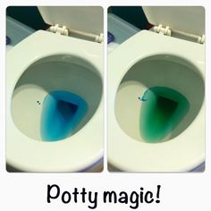 Speaking of the potty another genius idea take a look at this potty training tip! Drop blue food coloring in the potty. Tell your child when they go the water will magically turn green! Toddler Tips and Tricks Hacks for New and Old Moms on Frugal Coupon Kids And Parenting, Parenting Hacks, Practical Parenting, Toddler Potty Training, Potty Training Rewards, Kids Potty, Blue Food Coloring, Girl Thinking, Home Remedies