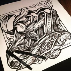 Boom! The letter M. Magnifico. Marvellousity. Mahoosive. Letter M. Gone way too far. But whatevs. Gotta push it.... #lettering #letter #alphabet #typography #type #typegang #ink #penwork #bw #model #monotone #graffiti #illustration #sketch #fabercastell #design #graphic #design #theaoi #tattoo #drawing @fabercastellglobal @type.gang @typism @thedailytype @designmilk @designboom @aigadesign @typeworship @typedirectorsclub by vicleelondon