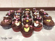 Chocolate Easter Cupcakes