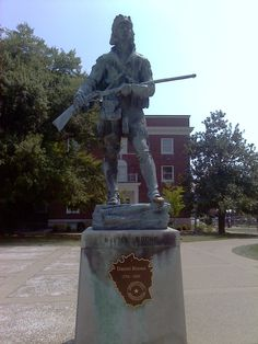 Richmond, KY. EKU. Photographed by Abby Daniel.  Daniel Boone statue, if you need some luck you rub his left toe.