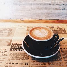 Latte at Thinking Cup in Boston