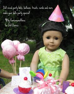 Cute doll treats for craft or favor bag