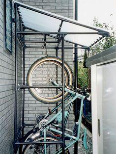 自転車の 自転車置き場 diy パイプ : で 自転車 置き場 パイプ ...